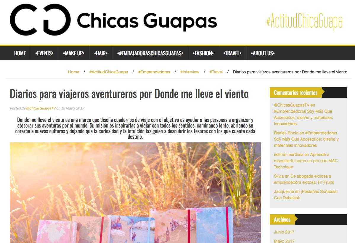 Entrevista Chicas Guapas con Lucía Ugarte